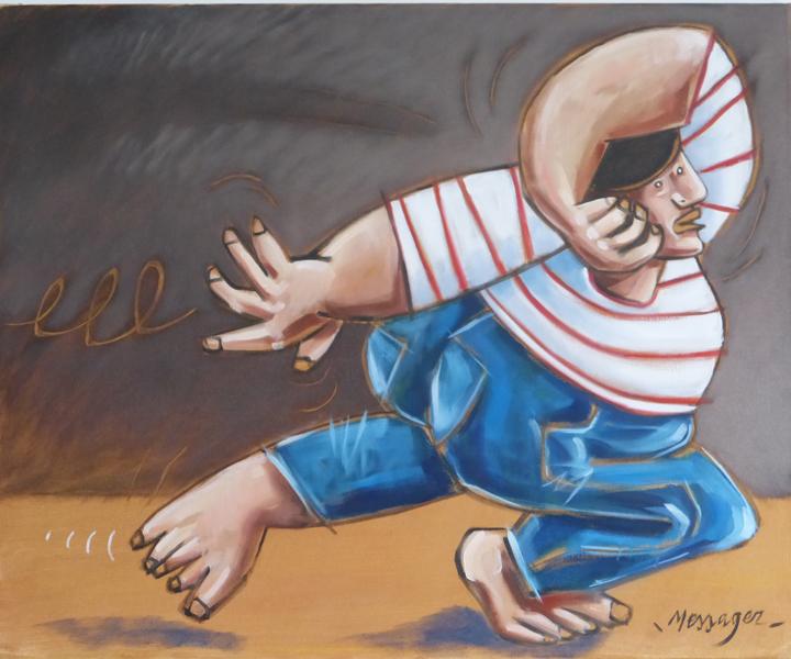 Expression corporelle, Huile sur toile, 60/73 cm