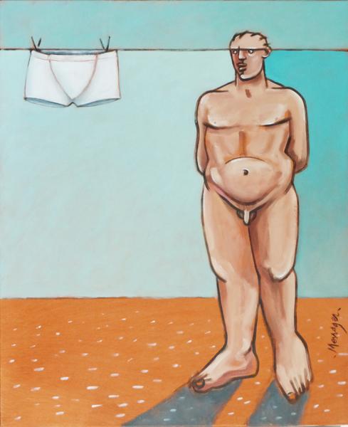 Naissance d`une idéologie naturiste, Huile sur toile, 73/60 cm